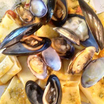 paccheri zucca e frutti di mare